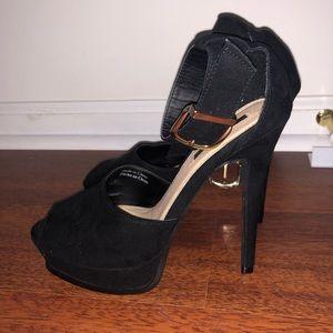 Forever 21 Black Platform Heels